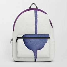 Ultra Violet Shapes Abstract Painting Backpack
