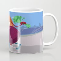 erotic Mugs featuring Erotic Eggplant by Rui Rodrigues