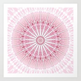 Dusky Pink Mandala Art Print