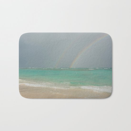 Double rainbow Punta cana Bath Mat