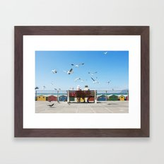Lunch and the Beach Framed Art Print