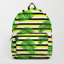 Tropical striped Backpack