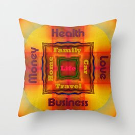 Mandala Style Kaleidoscope Throw Pillow