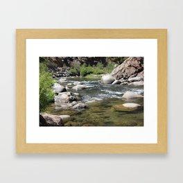 Down River, kern River Framed Art Print