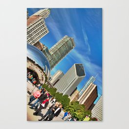 Chicago Bean in HDR Canvas Print