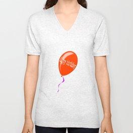 Birthday Balloon Unisex V-Neck