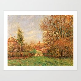 Camille Pissarro - Autumn in the Meadow at Éragny Art Print