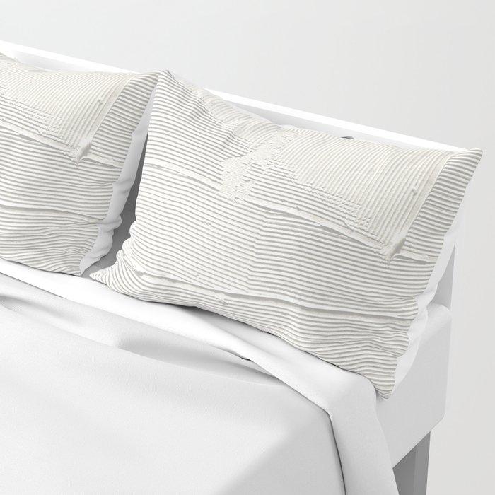 Relief [1]: an abstract, textured piece in white by Alyssa Hamilton Art Kissenbezug