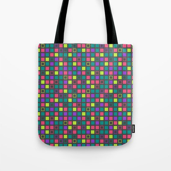 Night On The Town Square Pattern Tote Bag