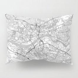 Newcastle upon Tyne Map Line Pillow Sham
