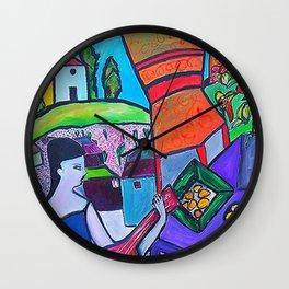 At The Villa  http://www.ebbio.com/index.htm    (ORIGINAL SOLD) #society6 #decor #buyart Wall Clock