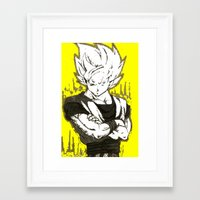 goku Framed Art Prints featuring GOKU  by DeMoose_Art