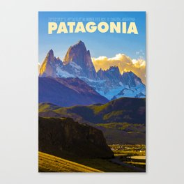 Patagonia Travel Poster Canvas Print