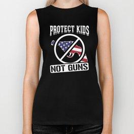 Protect Kids Not Guns America Anti Gun Anti War Design Biker Tank