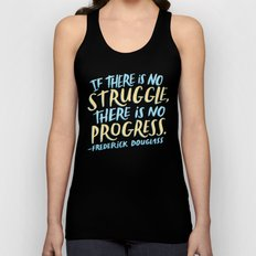 Frederick Douglass on Progress Unisex Tank Top