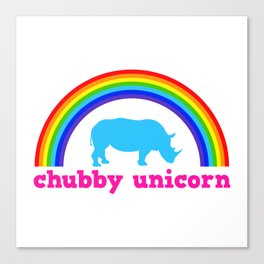 Chubby unicorn Canvas Print