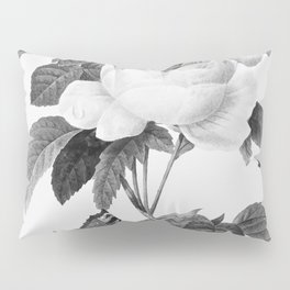 Vintage roses in grayscale version Pillow Sham