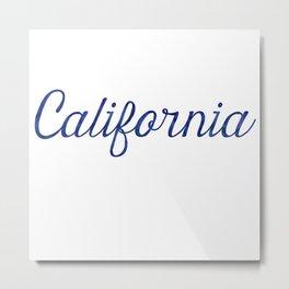 California Script Watercolor Metal Print
