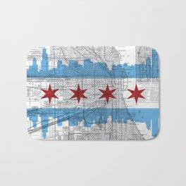 Chicago Map  Bath Mat