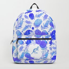 Beautiful Australian Native Floral Print with Kangaroos Backpack