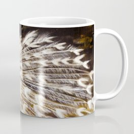 White Peacock Oil Painting Coffee Mug