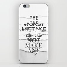 The Worst Mistake iPhone Skin