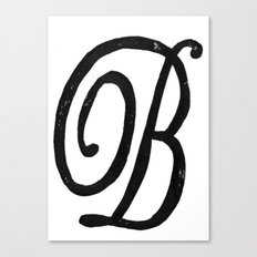 Monogrammed Letter B Canvas Print
