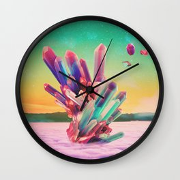 Clouds up Wall Clock