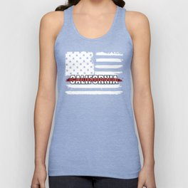 California Firefighter Gift for Texas Firemen and Firefighters Thin Red Line Unisex Tank Top
