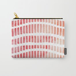 Modern coral pink watercolor hand painted brushstrokes Carry-All Pouch