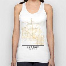 PHOENIX ARIZONA CITY STREET MAP ART Unisex Tank Top