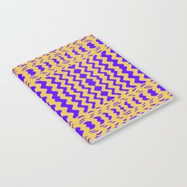 Bright Purple Yellow Wavy Lines Notebook