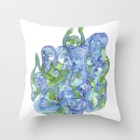 dragon ball Throw Pillows featuring Ball by Clara López