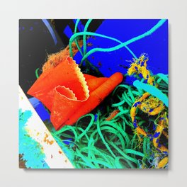 Rubber Glove Seven Metal Print