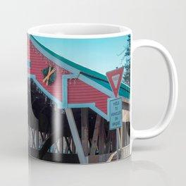East Entrance Honeymoon Bridge Jackson New Hampshire Covered Bridge Historic Red Coffee Mug