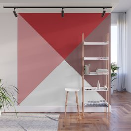 Geometric Red Wall Mural