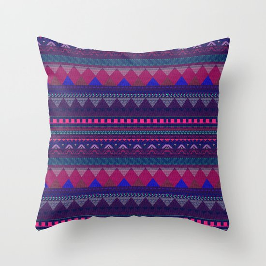Knitting Patterns For Throw Pillows : KNITTED AZTEC PATTERN Throw Pillow by Vasare Nar Society6
