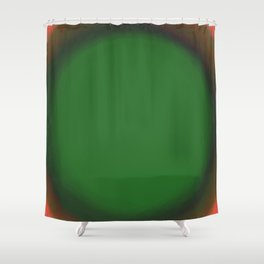 Green Fuzz Shower Curtain