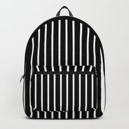Classic White Pinstripe on White Backpack