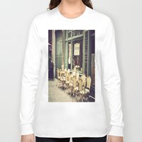 le petit prince Long Sleeve T-shirts featuring Le petit café by Olivia Nicholls-Bates