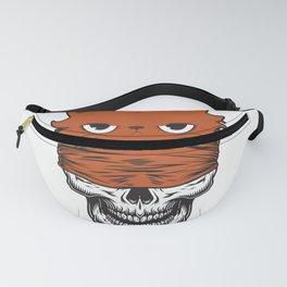 funny skull cat furniture Design by diegoramonart Fanny Pack
