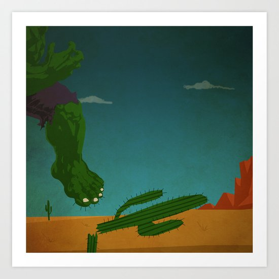 superheroes in the wild west Art Print