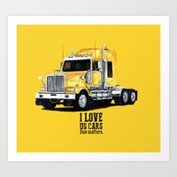 truck kenworth Art Print