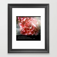 I Wish I Could Show You... Framed Art Print