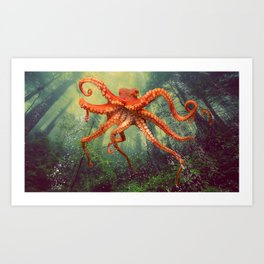 Octo Forest Art Print