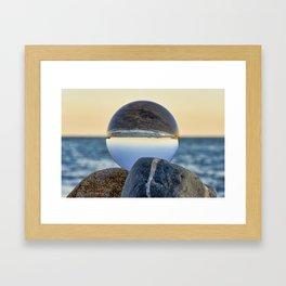 Lens ball sunset 1 Framed Art Print