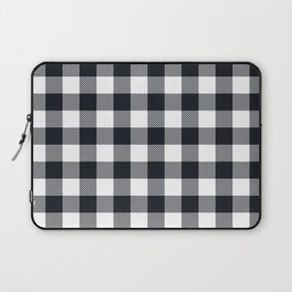 Small Black & White Vichy Laptop Sleeve