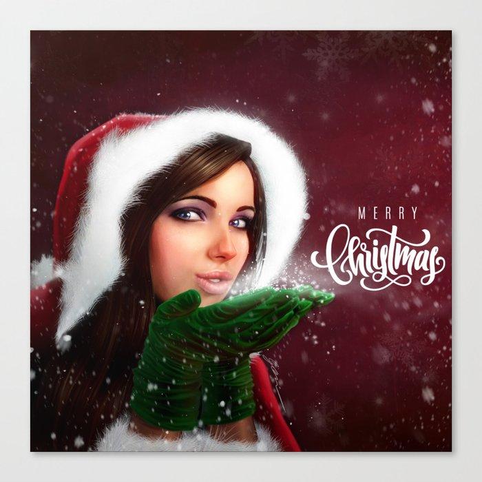 Lady Christmas Canvas Print