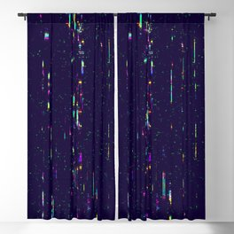 Grunge glitchy texture with tv screens Blackout Curtain