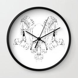 Horned Demon Skull Wall Clock